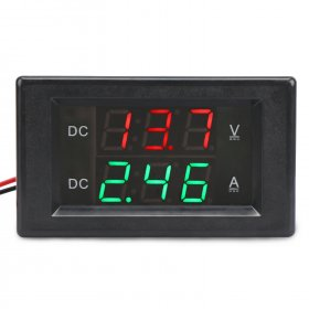 Digital Voltmeter Ammeter DC 0.0~300V/20A Led Dual Display Voltage/Current Meter DC 12V 24V Volt Ampere meter 2in1 Digital Tester
