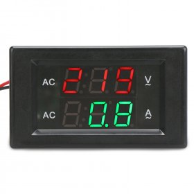 Tester AC 60~300V/50A Led Dual Display Voltage/Current Meter AC 110V 220V 380V Voltmeter Ammeter 2in1 Digital Multimeter + Current Transformer