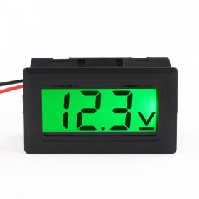 DC 0-30V Digital Voltmeter 2-Wrie DC Voltage Meter Green LCD Display