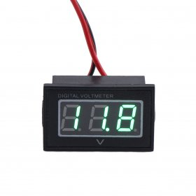 Mini Waterproof Green LED Voltage Monitor 2.5-30V DC Digital Automotive Voltmeter 12V
