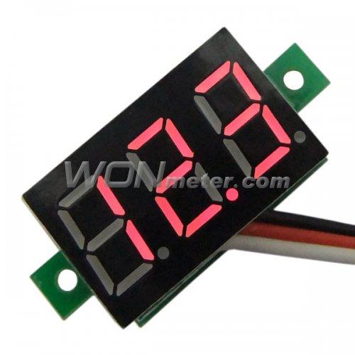 10pcs Mini DC 0-100V Blue LED 3-Digital Display Voltage Voltmeter Panel Motor