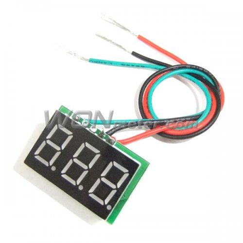 Small Digital Voltmeters Dc : Mini digital voltmeter panel dc v red yllow blue