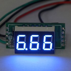 "Blue LED 0.36"" 10A Digital Ammeter Ampere Current Meter Blue LED DC 7-30V Powered Built in Shunt"