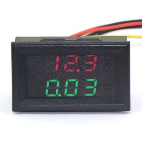 DC 100V 10A LED Dual Display Measure Voltage Current Voltmeter/Red Ammeter/Green