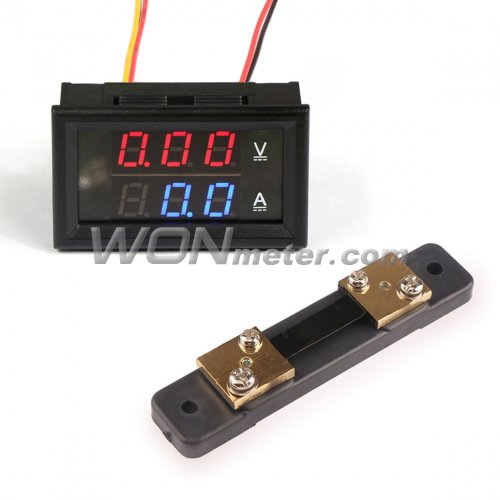 12 Volt Panel Meter : Digital tester dc v a voltage current meter