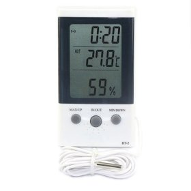3in1 LCD Temp Meter Digital Temperature/Humidity/Time Thermometer Indoor/Outdoor
