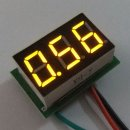 Ultra Small High-precision DC 0-1V Red/Blue/Yellow/Green LED Voltage Monitor Panel Meter for Car Motorcycle and DIY ect