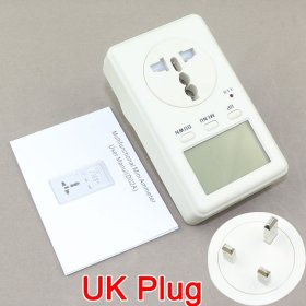 UK Socket 230V Version Power Analyzer KWH Watt Energy Meter 160-280V AC Voltage Test