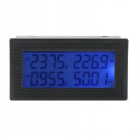 Digital Meter AC 60.00~500.00V/20A LCD Multifunction Panel Meter AC 110V 220V 380V Multimeter/Monitor/Tester 6 in 1
