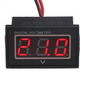 DC Voltmeter 15-120V for Electric Motor Car 24V 36V 48V 60V 72V 96V Waterproof Led Voltmeter Shockproof Panel Meter