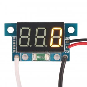 "0.36"" DC 12V Digital Amp Meter 1A Car Current Monitor Yellow LED Current Measure Panel ammeter"