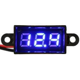 "0.28"" Digital Voltmeter DC 3.5-30V Volt Measure Blue LED Voltage Monitor 2-wire"