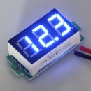 "0.36""Blue Electric Voltmeter Digital LED 3.2-30V DC Voltage Meter Power Detector"