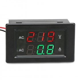 Digital Meter AC130~500V/200A Led Dual Display Voltmeter Ammeter AC 220V 380V Digital Volt Ampere Meter 2in1 Tester + Current Transformer