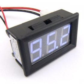 "DC 0-100A Current Amper Amp Meter Car Ammeter 0.56"" Blue LED Digital Display"