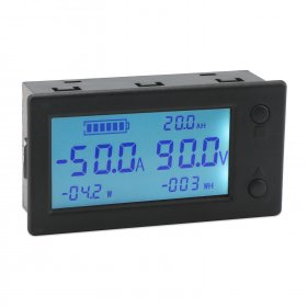 Digital Meter DC 0~300V 200A/999AH/999KW/999KWH Coulometer Precision Battery Tester for Lead-acid/Lithium batteries etc