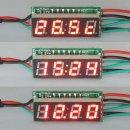 "0.28"" Red LED DC 12/110 Volt Car Digital Clock Temp 3in1 Meters Auto Gauges"