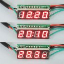 "3in1 Multifunction Car Clock/Voltmeter/Thermometer DC12V/24V 0.28"" Red/Blue/Yellow/Green/White LED Panel Meter"