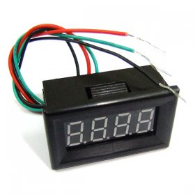DC 0-30V Yellow LED Panel Meter Digital Voltmeter