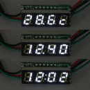 "0.28"" White LED Time Digital Thermometer Clock Voltmeter 18B20 Temp Sensor"