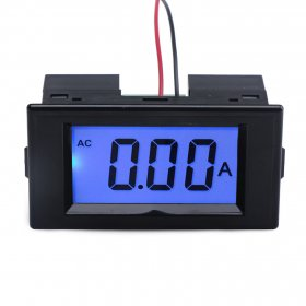 AC Digital Ammeter AC 0~19.99A LCD Display Ampere meter AC80~500V Current Tester AC 110V/220V Current Monitor + Current Transformer