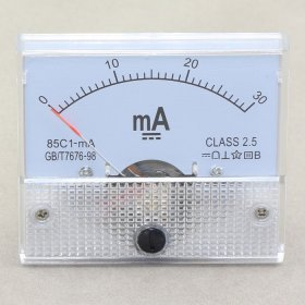 DC 0-30MA Current Detector 85c1 Analog Ammeter Gauge Class-2.5 AMP Panel Meter