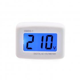 AC 110V/220V Digital LCD Voltmeter Household Switch Flat Wall Plug ...