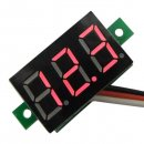 "0.36"" Slim DC 0-100V Digital Voltmeter 12V 24V Power Monitor Mounting Panel Meter with Ear Red/Blue/Green LED"