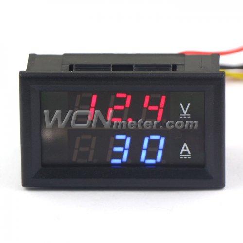 Digital 100A LED Dual Display Din-Rail AC Ammeter Voltmeter Voltage AC 220v 380v