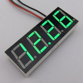 "Small Three wire Voltage Monitor Meter 0.56"" DC 0-200V Red/Blue/Yellow/Green LED Vehicle Motor Power Monitor DC Volts Measure Meter"