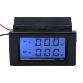 Digital Volt Amp Tester DC 0~200V/50A Lcd Display Voltage Current Meter 2in1 Voltmeter Ammeter