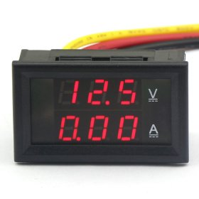 4.5-30V 10A Digital Voltage Detector DC Current Volt Amp Meter Red LED Voltmeter