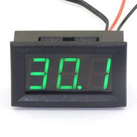 Digital Thermometer -50~110 Degrees Celsius Temperature Meter Red/Blue/Green Led Display Panel Meter DC 12V Digital Meter/Monitor/Tester