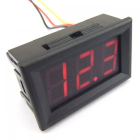 "DC Power Measurement Meter 0.56"" DC 0-200V Red/Blue/Yellow/Green LED Digital Voltmeter Three wire Voltage Monitor Meter"