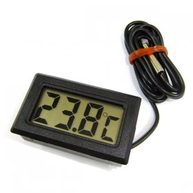 Black -50°c ~ 99°c Digital temperature Monitor Thermometer for Aquarium Refrigerator Probe Sensor 2 Mete