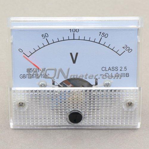 12 Volt Dc Amp Meter Analog : Pointer c v dc analog voltage meter