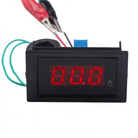 AC 100A Digital Ammeter Led Display Current Monitor Meter AC/DC 8~12V Ampere meter/Current Tester + Current Transformer