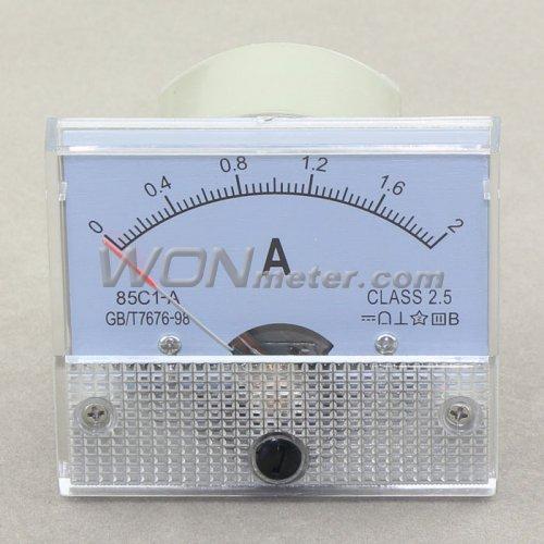 12 Volt Dc Amp Meter Analog : C a class dc ammeter gauge amp panel meter