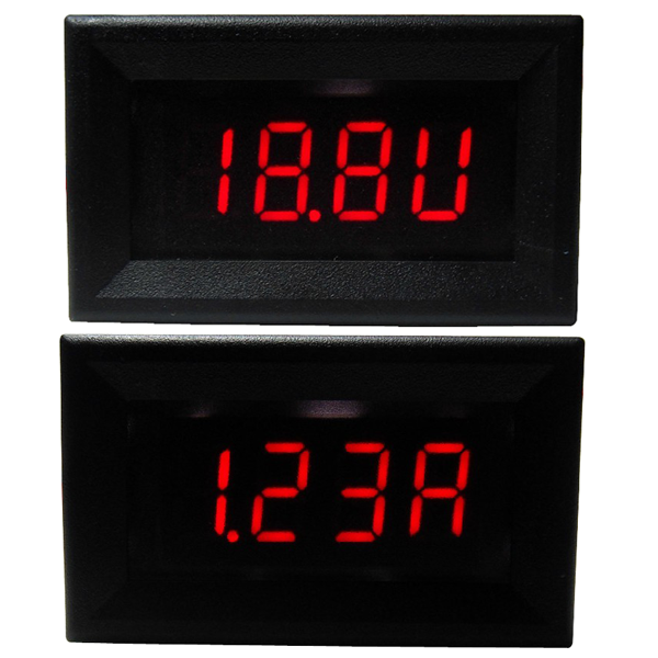 Digital Voltage Current Meter DC 4~30.0V/5A Voltmeter Ammeter Red Led display Panel Meter/Monitor/Tester DC 12V 24V Digital Meter 2in1